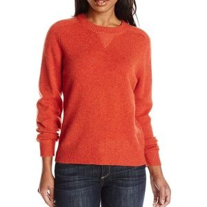 Pendleton pullover patches wool sweater, deep rose